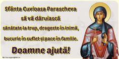 Felicitari de Sfanta Parascheva: 14 Octombrie - mesajeurarifelicitari.com Ecards, Memes, Movie Posters, E Cards, Film Poster, Popcorn Posters, Animal Jokes, Film Posters, Meme