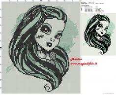 Frankie Stein cross stitch pattern