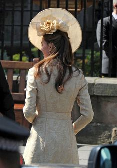 Catherine, Duchess of Cambridge leave Canongate Kirk on the afternoon of the wedding of Mike Tindall and Zara Philips on July 30, 2011 in Edinburgh, Scotland.
