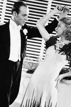 "Fred Astaire and Ginger Rogers in ""The Gay Divorcee"", 1934."