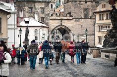 Charles bridge walk Royalty Free Stock Photo