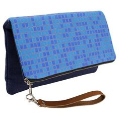 #pink - #Blue Abstract Pattern Clutch