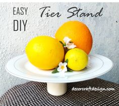 Easy DIY Tier Stand – Decor Craft Design Design Crafts, Decor Crafts, Home Crafts, Diy And Crafts, Glass Glue, Silicone Glue, Small Glass Jars, Tiered Stand, Yummy Cupcakes