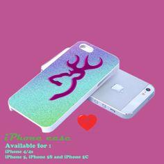 browning deer glitter design iphone casce for iphone by PinkyCases, $14.99 #iphone #iphone4 #iphone5 #iphone_case