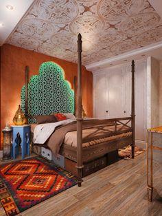 70s Bedroom, Rustic Master Bedroom, Master Bedroom Interior, Bedroom Carpet, African Interior Design, Best Interior Design, Architect Design House, Moroccan Room, Kids Bedroom Designs