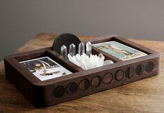 Diy Card Box, Diy Box, Deck Storage, Tarot Learning, Table Top Display, Moon Phases, Tarot Decks, Box Design, Tarot Cards
