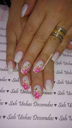 Spring Nail Colors, Spring Nails, Summer Nails, Cute Pink Nails, Pink Nail Art, Pink Nail Designs, Nail Designs Spring, Flower Nails, Manicure And Pedicure