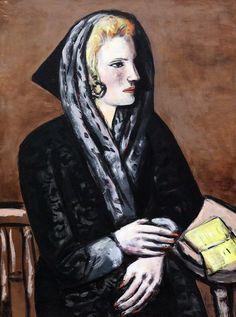 Max Beckmann. 1884-1950. Dame au capuchon gris. Lady in gray...