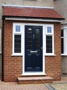 Energetic entrance porch design here are the findings Porch Uk, Front Door Porch, Porch Doors, Front Porch Design, House With Porch, House Front, Front Porches, Front Doors, Small Porches