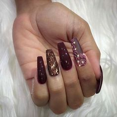 Image about fashion in Nails 💅🏻 by ladydark on We Heart It Sexy Nails, Fancy Nails, Cute Nails, Pretty Nails, Diva Nails, 3d Nails, Acrylic Nails, Gel Nail Designs, Cute Nail Designs