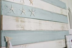 wooden flag with pencil starfish