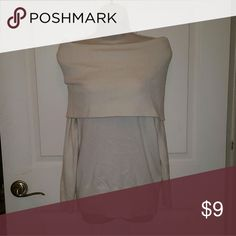 Wear it TWO Ways Sweater Pull top down for an off the shoulder look, or pull it up for a loose neck look. Sweaters