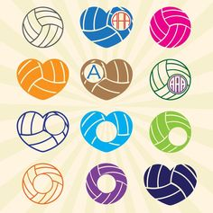 Volley Ball Volleyball SVG cut files, SVG Monogram Frame, DXF, Cricut Design Space, Silhouette Studio, Digital Cut Files + Vector eps ai png by seaquintdesign on Etsy https://www.etsy.com/listing/278213162/volley-ball-volleyball-svg-cut-files-svg