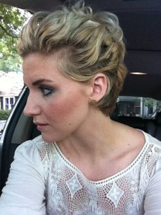 Need grit for the pieciness of this updo, but it's a cute and versatile way to pair edgy and feminine, depending on the accessories and dress!