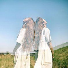 ... twins . 多重でごまかしごまかし撮っていたら 自分の写真がどこへ向かってるのか わからなくなってきた(*´˘`*) . . . #多重露光 .