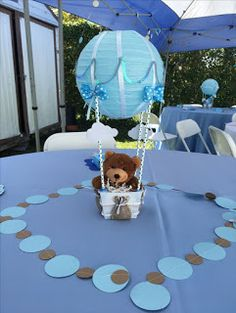 12 Centros de mesa con forma de globos aerostáticos para baby shower ~ Solountip.com