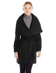 Wool Coats for Women - T Tahari Women's Marla Wool Wrap Coat #WoolCoatsForWoman #Fashion #Women