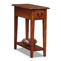 Oak wood is a trend in furniture! Oak wood furniture leick chair side end table, medium oak finish RREEGWV Decor, Table, End Tables, Chair Side Table, Furniture, Oak Chair, Small End Tables, Home Decor, Side Table Wood