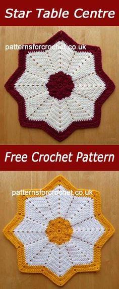 Star table center   free crochet pattern   #crochet