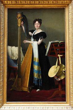 Jacques-Louis DAVID, Portrait de Juliette de Villeneuve, 1824
