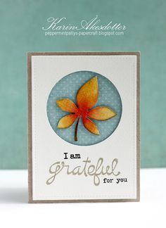 PCS - Grateful leaf Paper Smooches For more info: I share my creative projects here: https://www.instagram.com/peppermintpatty42/ and on my blog: http://peppermintpattys-papercraft.blogspot.se and on pinterest; https://www.pinterest.se/peppermint42/my-watercolors/