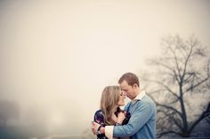 #engagement #photography....I'm obsessed with taking photos in the fog