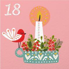 Caroline Alfreds | Swedish illustrator and designer based in Los Angeles, CA. Represented by Pink Light Studio. | illustrated-advent-calendar-day-18 -2015