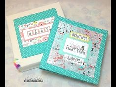 Baby Girl Mini Album in a Box-Mini album in scatola-Echo Park Bundle of Joy-Scrapbooking-DIY - YouTube
