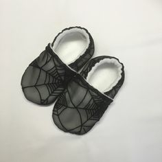 Items similar to Wide Spiderweb Halloween Soft Sole Baby Walking Shoes for Newborn, Infant, Toddler with Chubby Feet! Great extra wide trick or treat shoes! on Etsy Soft Baby Shoes, Better Posture, Baby Feet, Ankle Strap, Dance Shoes, Etsy Shop, Halloween, Trending Outfits, Unique Jewelry