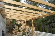 Like rafter spacing but sloping towards house