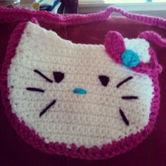 Hello Kitty crochet purse