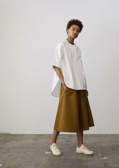 Celio Shirt In Optic White - Studio Nicholson