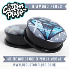 Diamond Plugs Available Online  Head over to the UKCP store and treat yourself!www.ukcustomplugs.co.ukSend us a photo of yourself wearing your UK Custom Plugs to be entered into our Weekly Sunday Shout Out - Via Facebook or Email - info@ukcustomplugs.co.uk