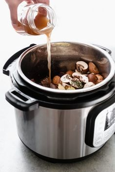 Ridiculously Tender Beef Tips with Mushroom Gravy - Easy beef tips in mushroom gravy that you can make in the instant pot or the slow cooker! This recipe is sure to be a hit with your entire family! #beeftips #beeftipsandmushroomgravy #beefstew #instanpotrecipe #instantpot #slowcooker #slowcookerbeeftips | Littlespicejar.com Electric Pressure Cooker, Instant Pot Pressure Cooker, Pressure Cooking, Instant Cooker, Beef Tips, Mushroom Gravy, Pots, Slow Cooker Recipes, Crockpot Recipes
