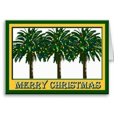 20 Best Palm Tree Christmas Cards Images Christmas Cards
