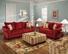Red Living Room Set | Home Design Plan