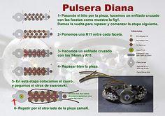 Quienlodira Creations: DIANA Bracelet Scheme