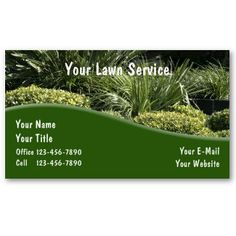 Tree or Lawn Care business card | Lawn care business, Lawn care ...