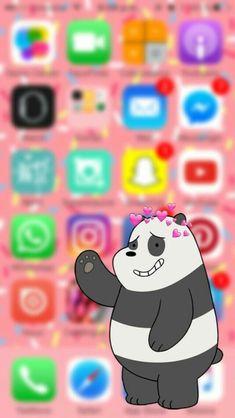 Funny Phone Wallpaper, Bear Wallpaper, Wallpaper Iphone Disney, Tumblr Wallpaper, Screen Wallpaper, Cool Wallpaper, Wallpaper Backgrounds, Anime Lock Screen, We Bare Bears Wallpapers
