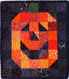 Cuuuute Jackolantern table topper candle mat wall hanging by Lucismiles