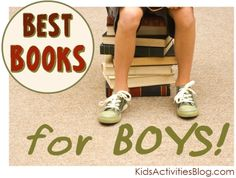 Finding recommended books for boys can sometimes be a challenge. Just the thought of sitting down for ANY reason can send some boys running, but we have Kids Activities (by Age), Learning Together, Reading/Phonics Kids Reading, Teaching Reading, Fun Learning, Learning Activities, Books For Boys, Childrens Books, Good Books, Books To Read, Raising Boys