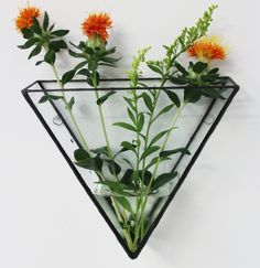 The Ada triangle wall mount can be filled with air plants, used as a simple water and flower feature or used to create your own indoor Triangle gardens or cacti terrarium to hang on your wall.Mix 'n' match with another shape and start your MONTI collection. Measurements - DxWxH inchesMade to order- Handmade in London by Dee MontiPlease Note: Plants are not included.