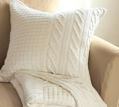 Pottery Barn- Inspired DIY Sweater Pillows--step by step