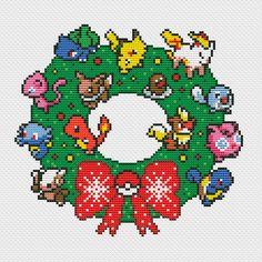 Pokemon Christmas Wreath Funny Cross Stitch PDF by CrazzzyStitch