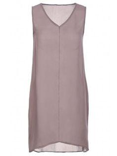 El color puro V vestido sin mangas del cuello