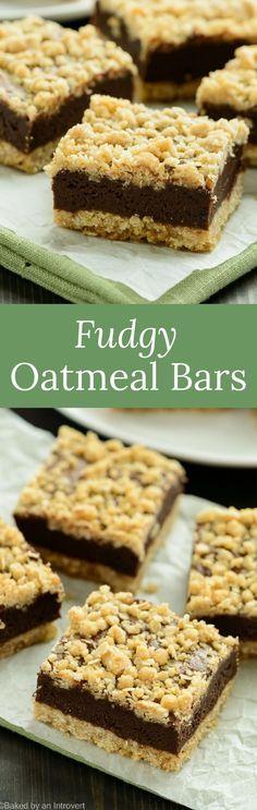 Fudgy Oatmeal Bars