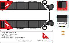Qantas paper model bus by p_saini. DIY paper craft