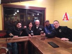 Most of the production team at Avery Brewing Co