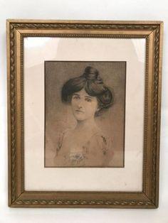 Portrait de femme, dessin du XIXe siècle