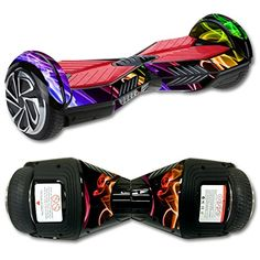 MightySkins Protective Vinyl Skin Decal for Self Balancing Board Scooter Hover 2 Wheel mini board unicycle bluetooth wrap cover sticker Bright Smoke *** Details can be found by clicking on the image.